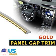 15Feet Gold Car Accessory Door Panel Decorate Molding Strip Line Edge Gap Trim