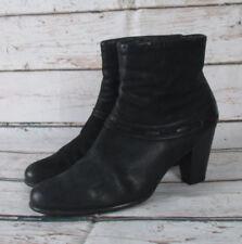 CAPRICE Damen Leder Stiefelette Ankle Boots Absatz Schwarz Comfort 37,5 UK 4,5