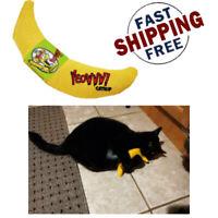 Yeowww! 100% Organic Catnip Banana Handmade Yellow CATS TOYS Leaf Flower Filled