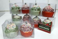 NEW! 10 CUPCAKES Hanging Christmas Tree Decorations Ornaments