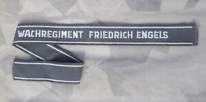 NVA Ärmelband Wachregiment Friedrich Engels Ärmelstreifen grau original