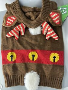 Dog Hoodie Reindeer Knit Sweater Christmas Costume. 13 Mediums  And 1 XLarge