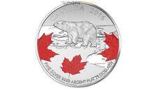 25$ Dollar True North Ours Blanc Polar Bear Canada Argent 2016