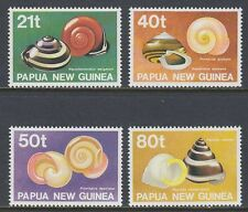 Papua-Neuguinea 1991 ** Mi.631/34 Muscheln Shells Schnecken Snails [st1547]