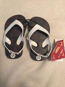 NEW~ Toddler Boy Superman Flip Flops Size 5/6