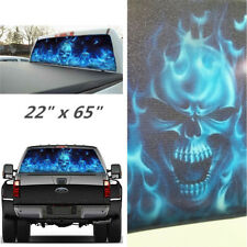 "Car Rear Window 22"" x 65"" Stickers Decal Skull Pattern Decorate For Pickup SUV"