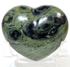5.6cm 90g Kambaba Diaspro Puffy Cuore Verde Nero Coccodrillo Eye Cristallo