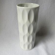 Hutschenreuther OP ART Design-Vase FUCHS weisses Porzellan matt 20cm Top RAR!
