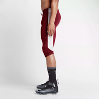 Nike Mens Pants Size 3XL Open Field Football Leggings Burgundy White 615745