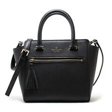 NEW KATE SPADE (WKRU4322) CHESTER STREET SMALL ALLYN BLACK LEATHER SATCHEL BAG