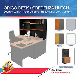 Desk Hutch Storage Shelving Office Desk Shelf Storage Corner Desk Shelves 900mmW