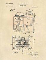 Vintage Kitchen Range US Patent Art Print - Antique Vintage Kitchen - 771