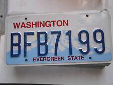 plaque immatriculation  usa washington license plate old americaine 7199