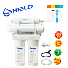 4 stage 75GPD Wall Mount Reverse Osmosis Water Filter System RO Filters + Garden