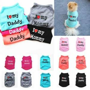 Pet Clothes Summer Letter Print Vest Puppy Small Dog Cat T-Shirt Apparel New