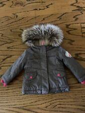 Cat And Jack 12m Gray Fur Hood Winter Jacket Warm Fleece Lined