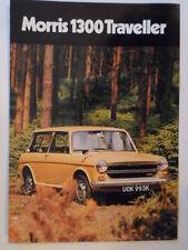 MORRIS 1300 TRAVELLER orig 1971 1972 UK Mkt Sales Brochure - BL 2838/A