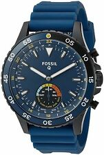 Fossil Q Crewmaster Gen 2 Hybrid Blue Silicone Smartwatch New - No Sales Tax