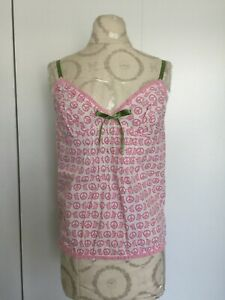NEW JUICY COUTURE LUCY VINCENT PEACE DOG PINK CAMI TANK TOP SLEEPWEAR SZ MED