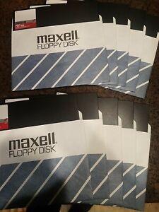 """Maxell Floppy Disk FD1 128 M 1200 Box Of 10 8"""" Floppys"""