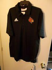 NWT Mens Large Adidas Louisville Cardinals Black Tech Polo Golf Shirt New $75