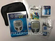 NEW Bayer Contour NEXT EZ Blood Glucose Monitoring Full Kit DIABETIC Test Meter