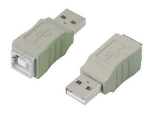 4 x USB 2.0 Type A Male to Type B Female Adaptors Adapters in Grey