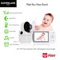 "NEW 3.5"" DIGITAL BABY VIDEO AUDIO WIRELESS MONITOR NIGHT VISION+TEMP SLEEP Model"
