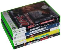LOT Of 5 XBOX 360 + 1 XBOX GAMES Spongebob COD Forza Motorsport UFC 2K5 Baseball