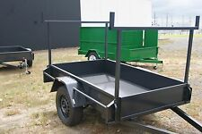 7x5 Heavy Duty Trailer with Ladder Racks & Jockey Wheel