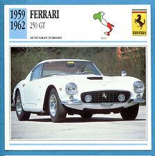 SCHEDA TECNICA AUTO DA COLLEZIONE - FERRARI 250 GT 1959-1962