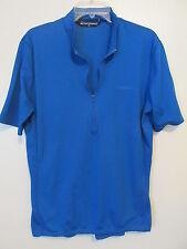 Performance  Cobalt Blue 1/2 Zip Short Sleeve Cycling Shirt SIZE:XL