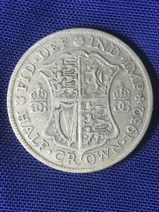 1932 Half Crown George V - 50% silver