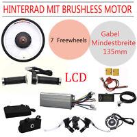"26"" 48V 1000W LCD Kit de conversión de Bicicleta eléctrica Rueda Trasera Hub DHL"