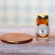 Dollhouse miniatures 1:12 food Jar of Honey with Label NEW