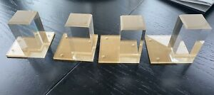 "4"" Lucite Legs Furniture Acrylic Legs Clear (set Of 4) Modshop"