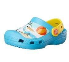 NEW Disney Frozen/Olaf Snowman Blue Toddler Child Crocs Size 4/5 Clogs