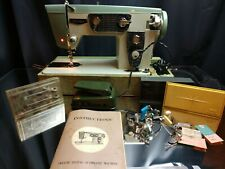 WITH MANUAL & WORKING! Riccar Belvedere Adler 850-B Sewing Machine Zig-Zag Vtg
