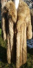 """Small Medium 34"""" Chest Tanuki Raccoon Long Full Length Fur Coat"""