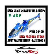 ESKY 4CH LAMA V4 HELICOPTER FULL CANOPY BODY PART 00405-FACTORY STOCK-AUS SELLER