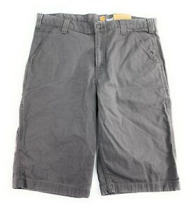 Carhartt Men's Rigby Relaxed Fit Rugged Flex Cell Pocket Gray NWT Shorts 36