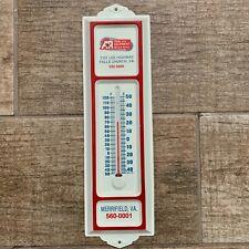 VTG A&R Tool Equipment Rental Metal Thermometer Advertising Sign Falls Church VA