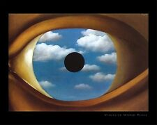 RENE MAGRITTE ~ VISUALIZE WORLD PEACE 16x20 FINE ART POSTER Eye False Mirror