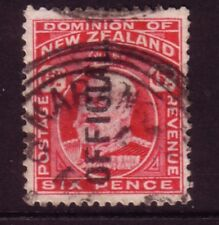 NEW ZEALAND....  1909  6d red used OFFICIAL: