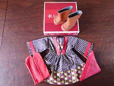NIB ~American Girl Julie's Calico Dress~ Dress Boots Tights Kerchief Ivy & Julie