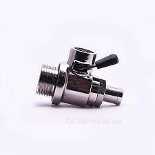 EZ Engine Oil Drain Valve EZ-105(20mm-1.5) & Straight Hose End H-001 COMBO PACK