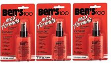 Bens 100 Insect Repellent Spray Pump 3 PACK Bug Mosquito Max Protection USA MADE