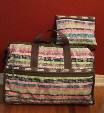 LeSportsac Women's Large Weekender Shoulder Bag with Matching Print Cosmetic Bag