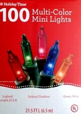 1 Box - Holiday Time 100 Multi-Color Mini Christmas Lights w/Optional Blinking