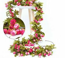 Fake Flowers Wedding Rattan Garland Vines Autumn Cane Backdrop Decors Silk 220Cm